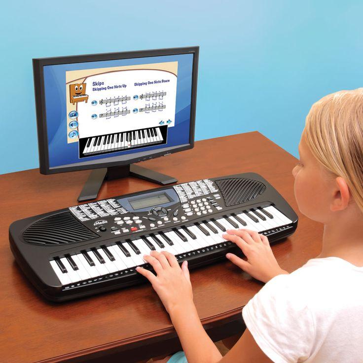 The Children's Learn To Play Keyboard - Hammacher Schlemmer