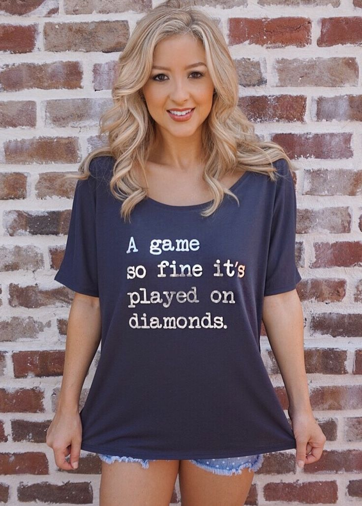 Baseball – Played on Diamonds – Dark Gray Tee