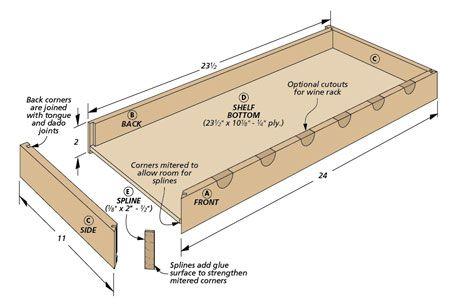 Подвесные настенные полки | Планы деревообработки