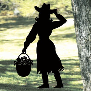 **NEW** Lawn Art Yard Shadow/Silhouette - Cowgirl  Yep!  I'm officially an old gal.  I want one!