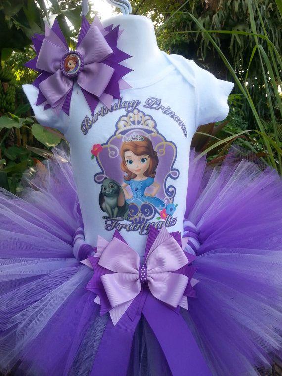 Handmade Disney princess Sophia inspired Tutu by Partyadvantage