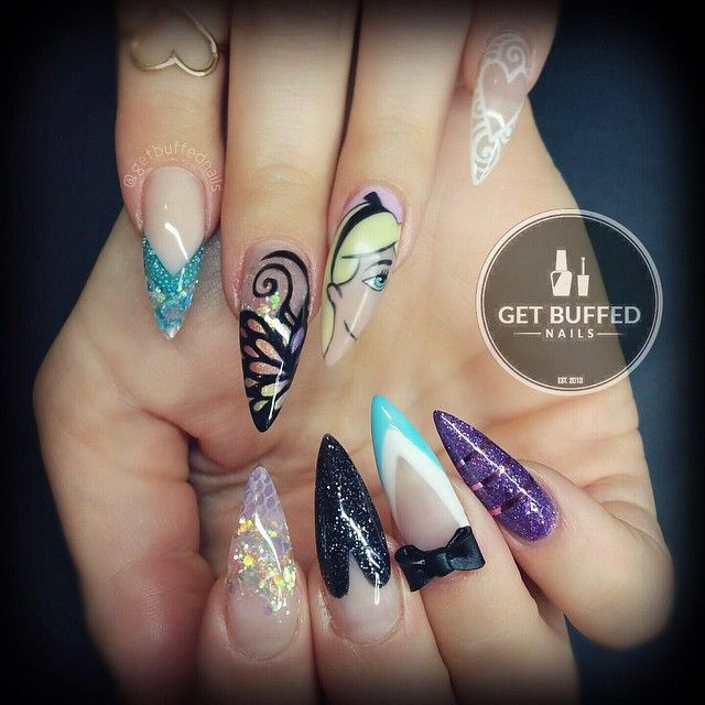 Alice in wonderland inspired nails