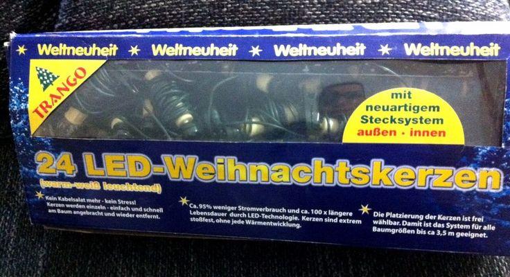 Led Beleuchtung Longboard : 24 LED WEIHNACHTSKERZEN Stecksystem INNEN & AU?en TRANGO Christbaum