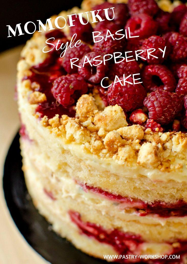 Momofuku Style Basil Raspberry Cake