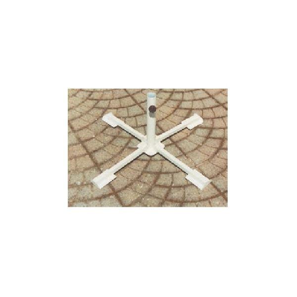 Base per ombrellone pieghevole da giardino in acciaio verniciato bianco, con palo ø 38÷50 mm al miglior rapporto prezzo - qualità.  21,90 €  PREZZO SCONTATO IVA INCLUSA