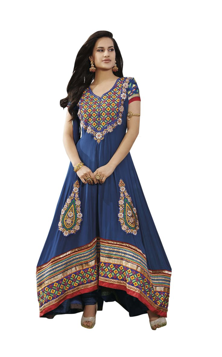 Blue Embroidered Pure Georgette Semi Stitched Floor Length Anarkalis Salwar Suit  #DesignerSlawarkameez, #MagentaSalwarKameez #WeddingSalwarKameez, #NetFabricSalwarkameez, #EmbroideredWorkSalwarKameez #EmbroidedSalwarKameez  #WeddingDress #PartyWearDress #AnarkaliSalwarkameez #AnarkaliDress #AnarKaliSuit #DesignerAnarkali #BridalSalwarKameez #SalwarKameezWithDupatta #BlueSalwarKameez #BlueDress #CasualWearDress
