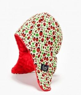 winter pilot hat LADYBIRDS WITH RED size M