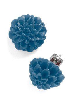 Retro Dollie Earrings in Blue, #ModCloth