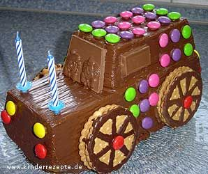 Schoko-Auto-Kuchen