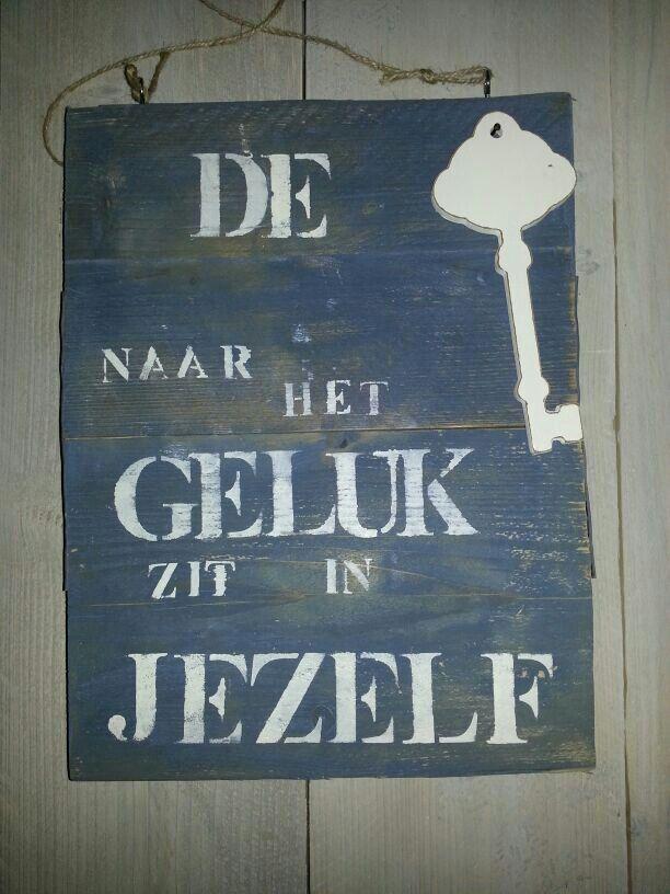 Tekst bord oud steigerhout