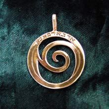Healing Rafa Pendant Big Gold - Symbol of Healing  The symbol is now available as a pendant for the first time.  We can add the name of a specific person and that of his mother in order to focus the power of this healing prayer (please write it to us in the order comment box).  May you be blessed with a full and complete recovery!  Size :2.9cm/2.9cm -  1.1Inch/1.1Inch Metal: Solid Gold 14k Yellow. Please click on the image to order. Price: $1,169