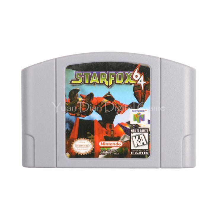 Nintendo N64 Video Game Cartridge Console Card Star Fox 64 English Language Version #Affiliate