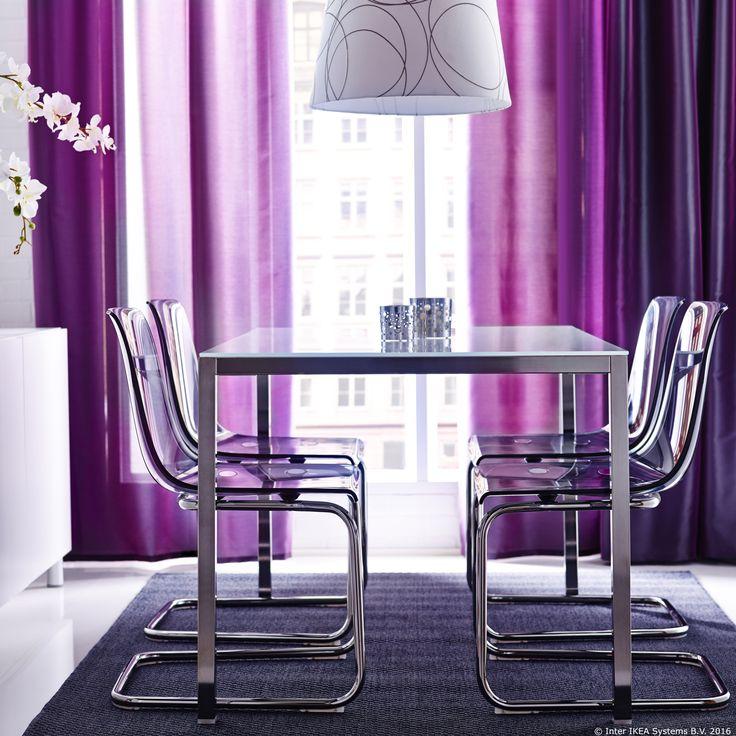 Romantične I Nježne, A Istovremeno Moderne, TOBIAS Stolice Unijet će Dašak  Proljeća U Tvoju. Www IkeaGlass Dining TableDining TablesDining Room ...