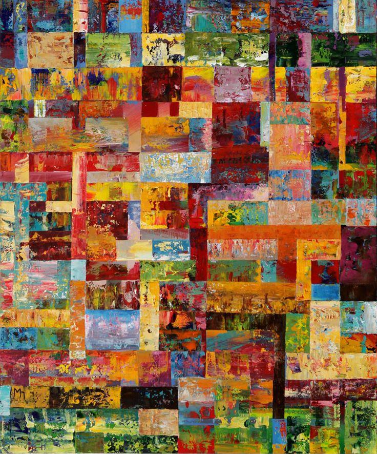 Manolis Pentes 'Composition_notes' 2016 acrylic 120X100cm