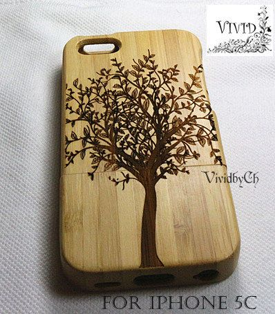 Natural wood iPhone 5c case iphone 5c case Bamboo by VIVIDbyCh, $20.50   This case is also really nice.