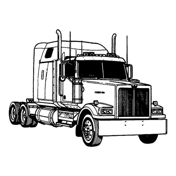 Heavy Truck Logo 6 Autobucket Of Boltsclunker Svg Eps Etsy In 2020 Truck Coloring Pages Cars Coloring Pages Coloring Pages