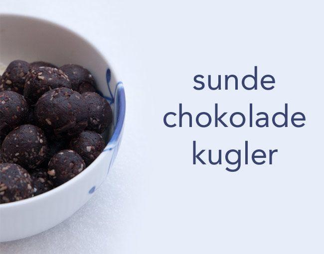Chokoladekugler - sunde dadelkugler med chokoladestykker