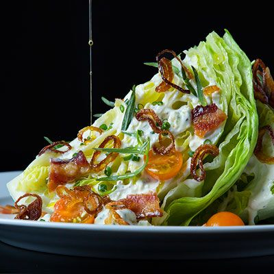 """Livin' on the wedge!""  This is just a beautiful, iconic salad that's been enhanced with the additional crunch of fried shallots.  Wow!  I want this NOW!"