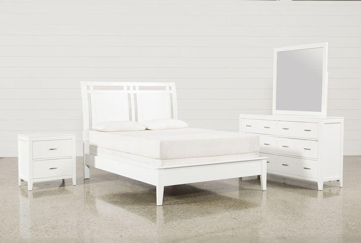 Harkin White Queen 4 Piece Bedroom Set