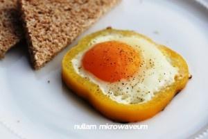 in paprika gebakken ei