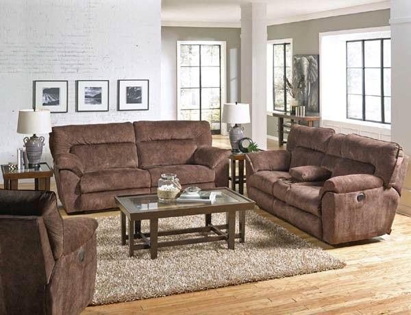 Catnapper - Nichols 3 Piece Power Reclining Sofa Set in Chestnut - 61671-3SET-CHESTNUT