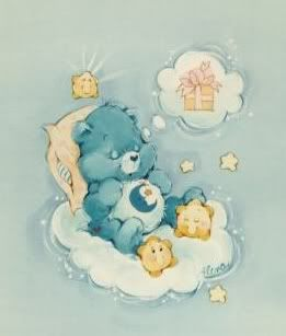 Bedtime Bear.  I don't care how silly some people thought they were; I loved the Care Bears.  I thought they were a great way to help kids understand emotions and compassion.