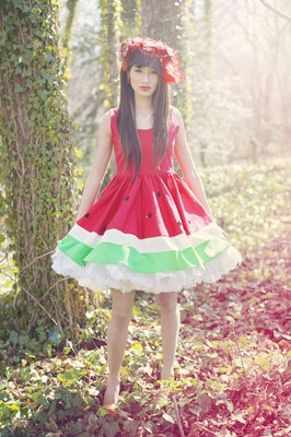 Watermelon costume with a viny flower crown!!!