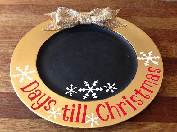 Days Till Christmas countdown charger by OshriCreativeDesign