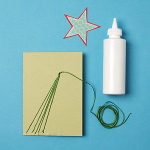 How to Make a Shooting Star Holiday Card: Step 4: Shooting Star Holiday Card (via Parents.com)