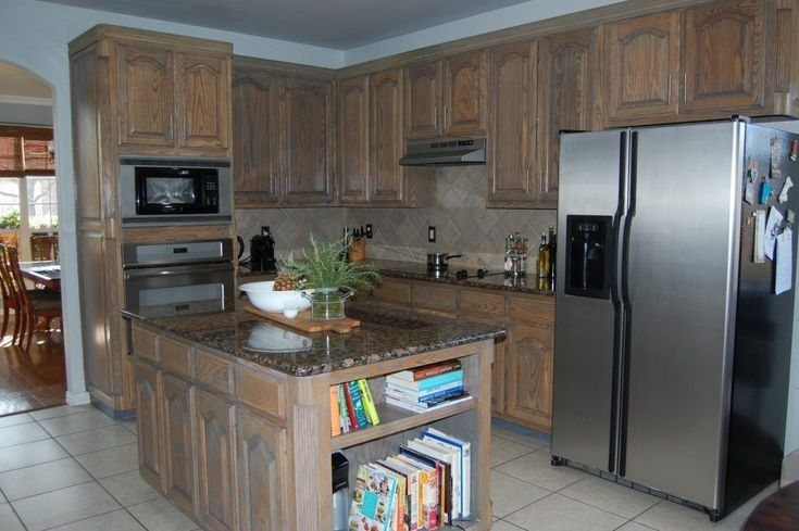 Refinish dated oak cabinets in 2020 (With images ...