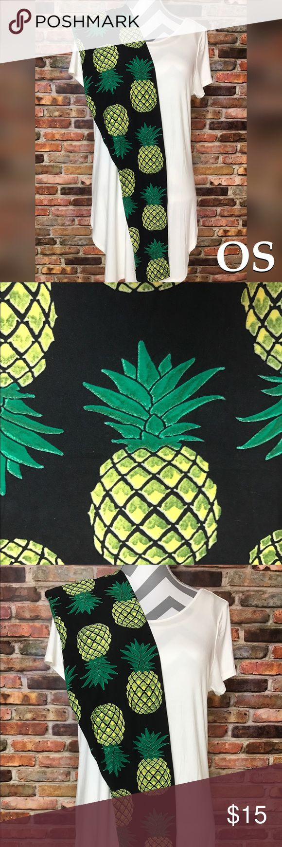 "One Size OS Classic Pineapple Leggings Brand new with tags Buttery soft brushed poly/spandex blend  Full Length Elastic high waistband (does not fall down) One Size OS: fits sizes: 2 - 12/14  Price is firm unless bundled.   Bundling also saves on shipping 😉   ~This is our own brand Fab Not Drab~  Same buttery softness as Lularoe and Agnes & Dora for a much more affordable price ❤️  🌹PLEASE ONLY SELECT THE SIZE THAT SAYS ""OS""🌹  #leggings Fabnotdrab.com Pants Leggings"