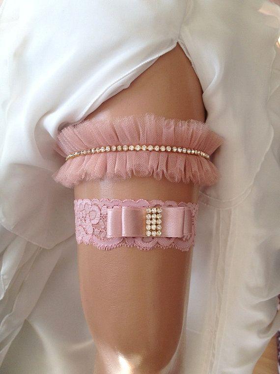 Wedding Garter Set Blush Pink Bridal By Venus 36 90