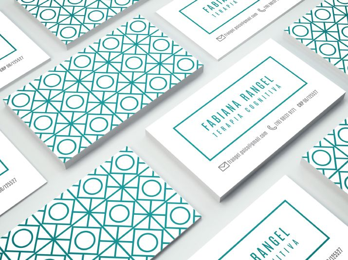 TROPICO | FABIANA RANGEL • Concept of the brand and business card design for the psychologist Fabiana Rangel.  Designed by www.tropicodesign.com