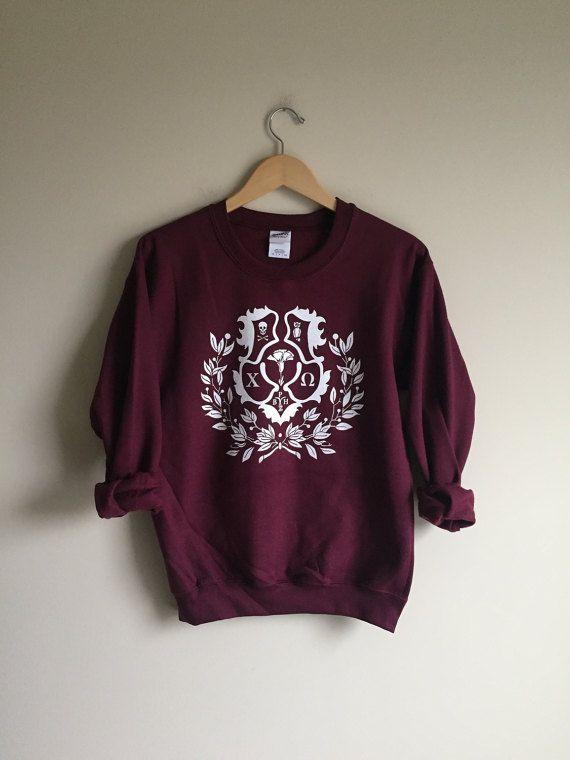 New Chi Omega Big Crest Crewneck Sweatshirt // by WildKardVintage