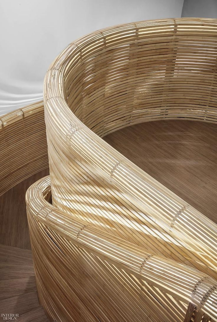 Mammoth Bamboo Staircase Defines Elephant-Parade's Beijing HQ by Cun Design