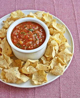 Quick and easy Salsa - a pineapple salsa sounds very appetizing