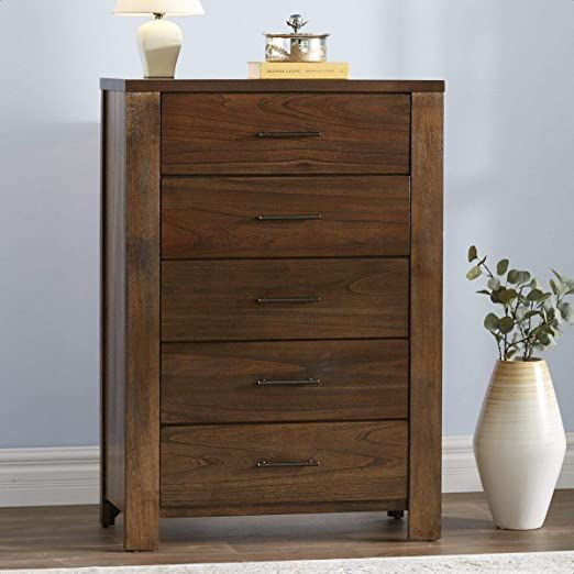 Cayuse 5 Drawer Chest In 2020 Wood Nightstand 5 Drawer Chest Solid Furniture