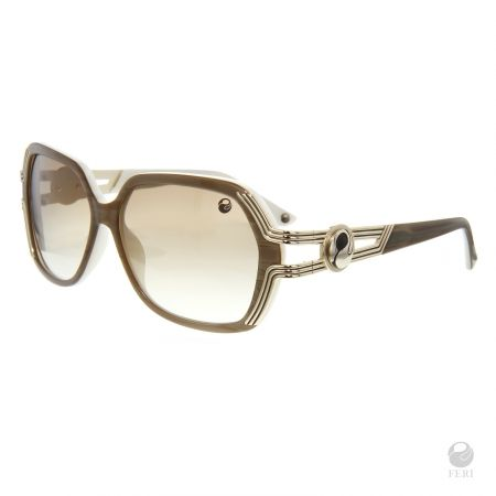 FERI - San Diego Brown - Shields - Beige coloured frame - Acetate and metal construction with gold tone embellishment - Unique stone encrusted lens - Lenses are UV 400 and provide protection against harmful UV rays - Acetate is a hypo allergenic plastic - Acetate is used for its shine, color depth and durability  Invest with confidence in FERI Designer Lines.  www.gwtcorp.com/ghem or email fashionforghem.com for big discount