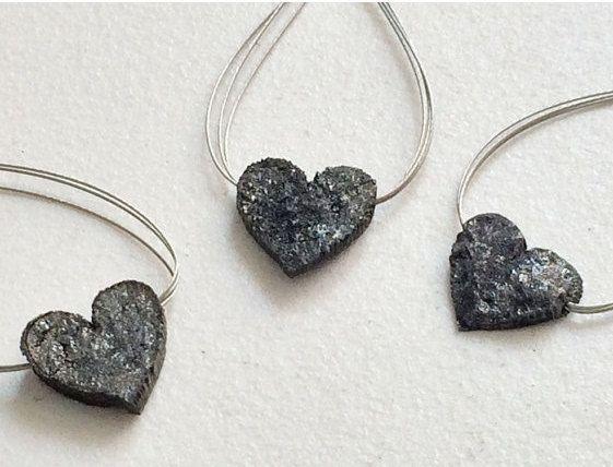 Black Rough Diamond Diamond Heart Black Heart by gemsforjewels