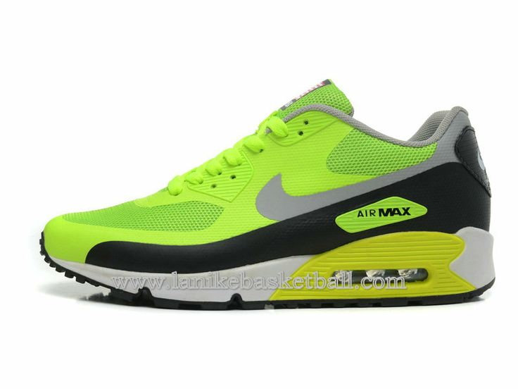hot sale online 81321 86cb4 ... Nike Air Max 90 Hyperfuse QS Independence Day Chaussures De Basket Pour  Homme Vert Noir Gris ...