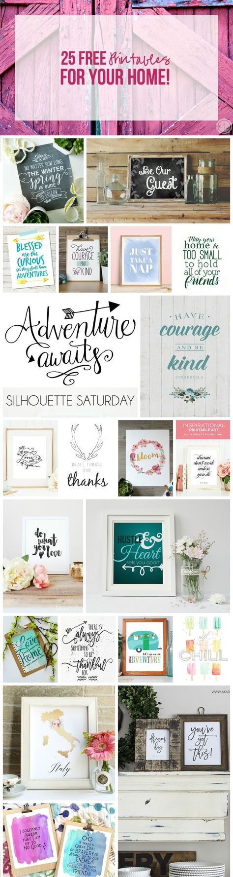 25 FREE Printables For Your Home! - Happily Ever After, Etc.
