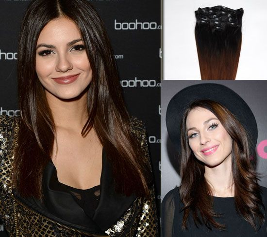 #1 #3 celebrity Victoria Justice Sombre Hair Colors for long straight layered hair 2014