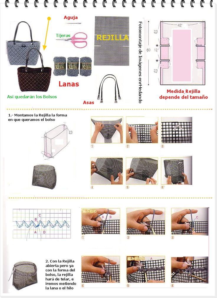 enrHedando: Como hacer Bolsos con Telares de Rejillas