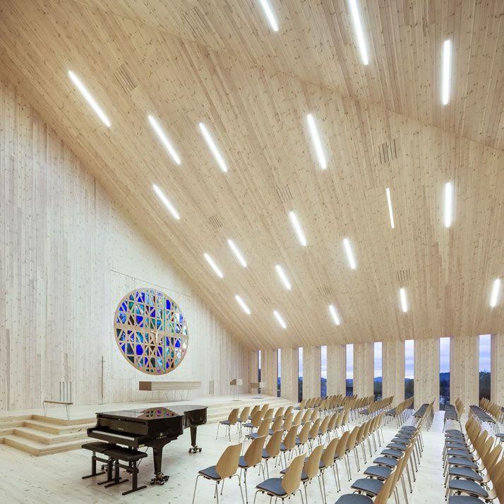 Knarvik Church, a Futuristic Interpretation of the Traditional Norwegian Stave Church | http://www.yatzer.com/knarvik-church-reiulf-ramstad-arkitekter