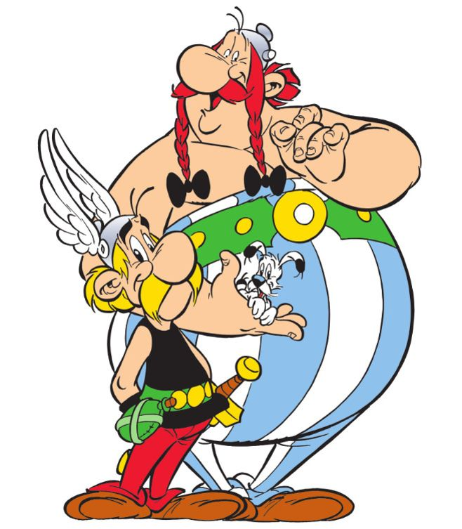 Asterix, the most famous Gaul in the world Idefix Obelix Ils sont fous ces romains!