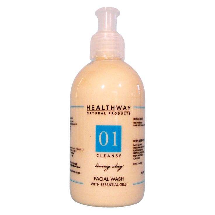 Healthway Facial Wash with Living Clay & essential oils. www.healthway.co.za