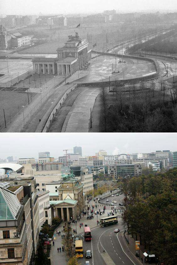 THE  BERLIN  WALL , THEN  AND  NOW .