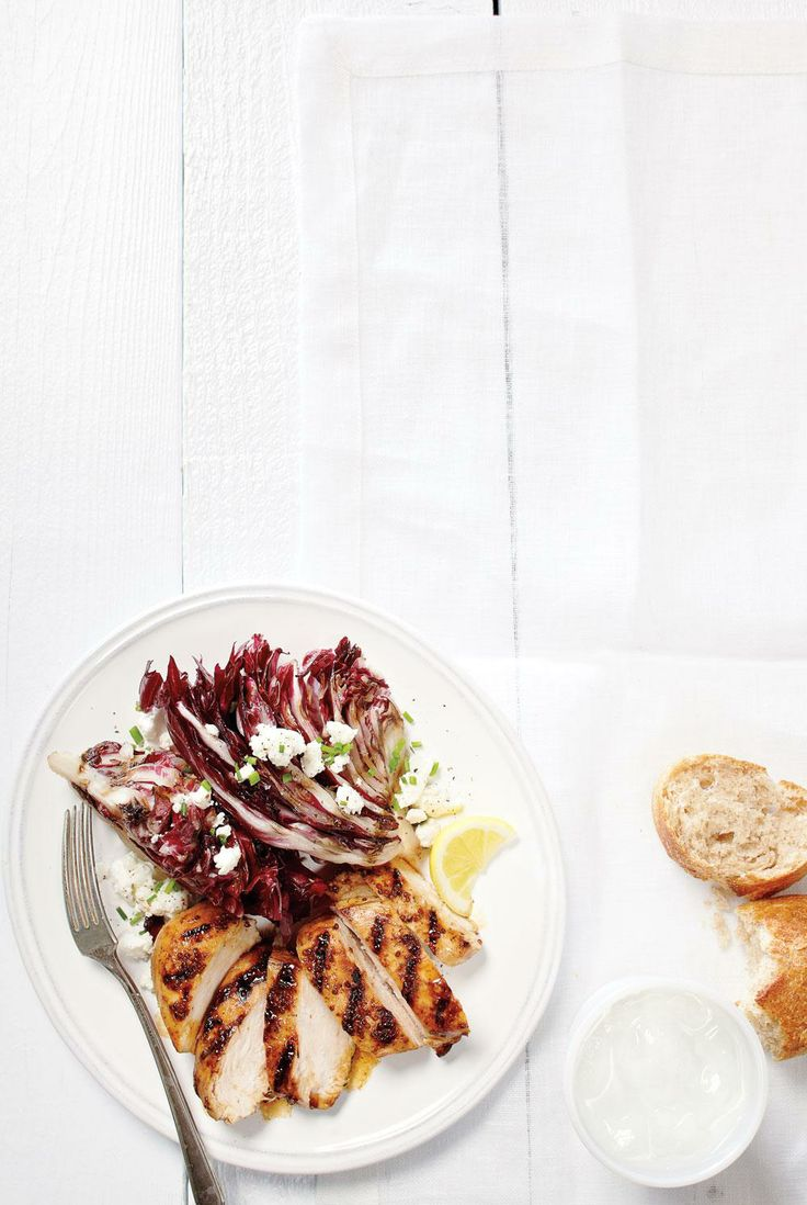 Grilled Chicken and Balsamic Radicchio