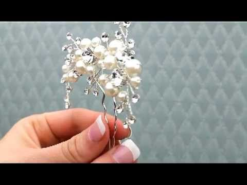AA-S2486M Wired Hairpin with Pearl and Rhinestone Accents http://www.haircomesthebride.com/Bridal_Hairpin_Rhinestone_Pearl_AAS2486M.htm