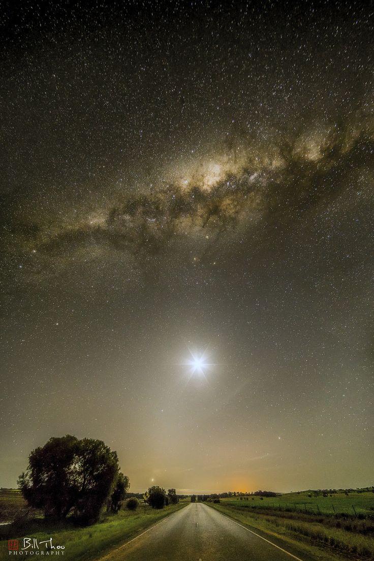 https://flic.kr/p/UGhr5z   Starry Road   Parkes, NSW, Australia.  September 2016.    4 image vertical panorama.